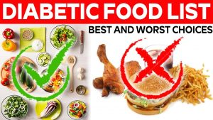 worst and best food for diabetes patient